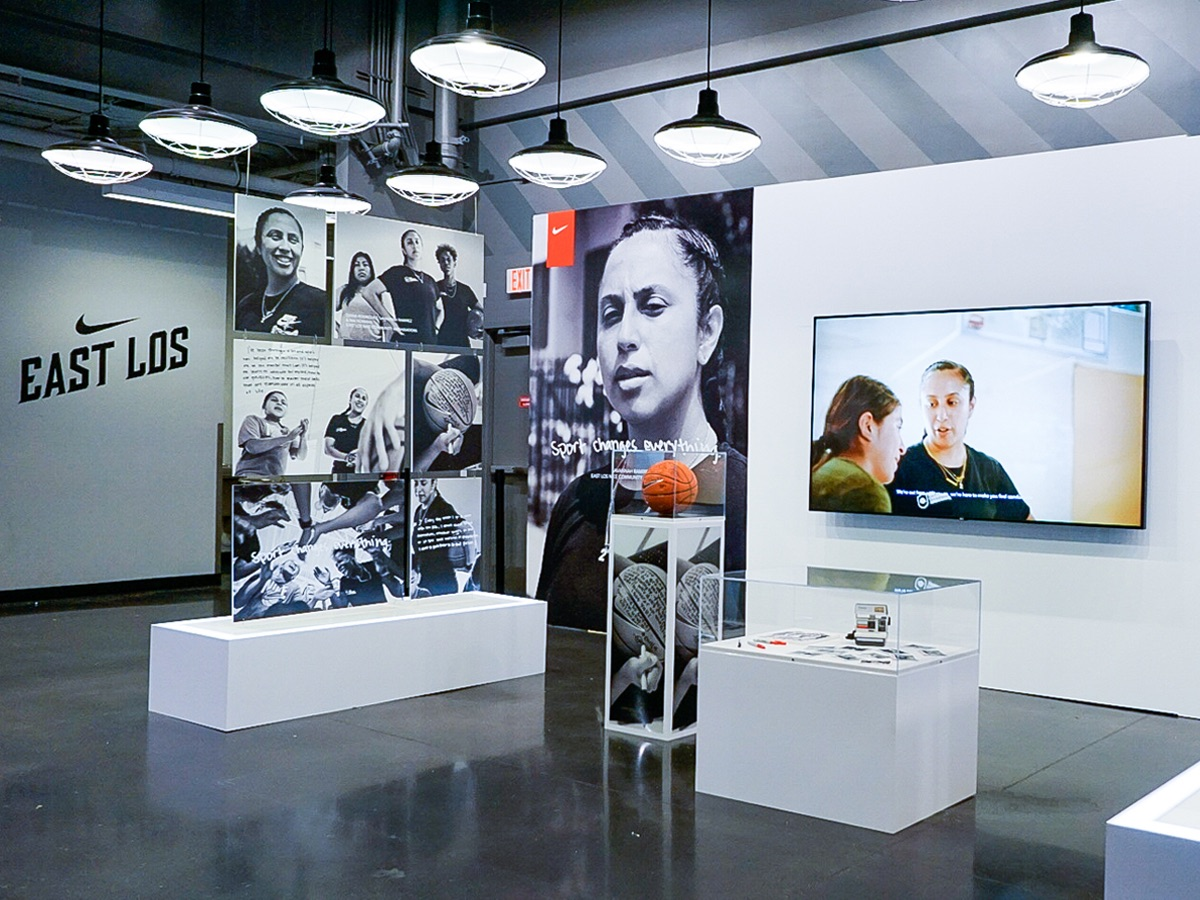 photo of printed graphics from Infinity Images at the Nike World Headquarters