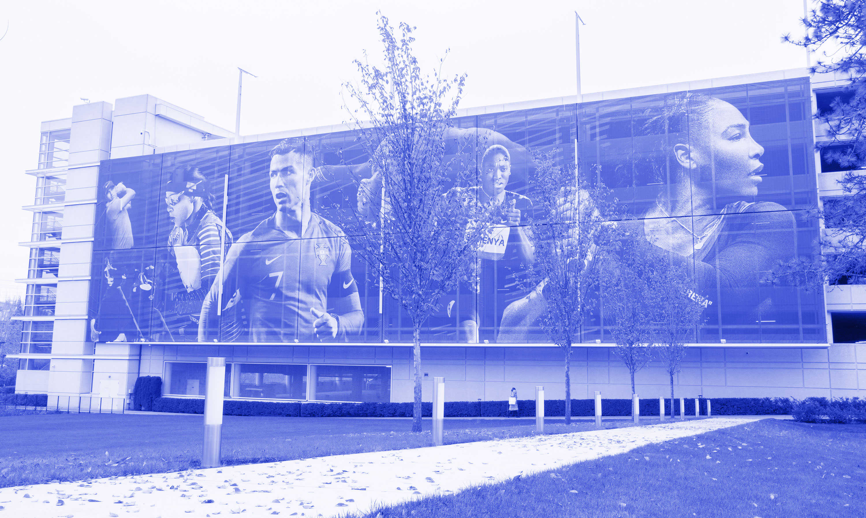 photo of a banner printed by Infinity Images at the Nike World Headquarters