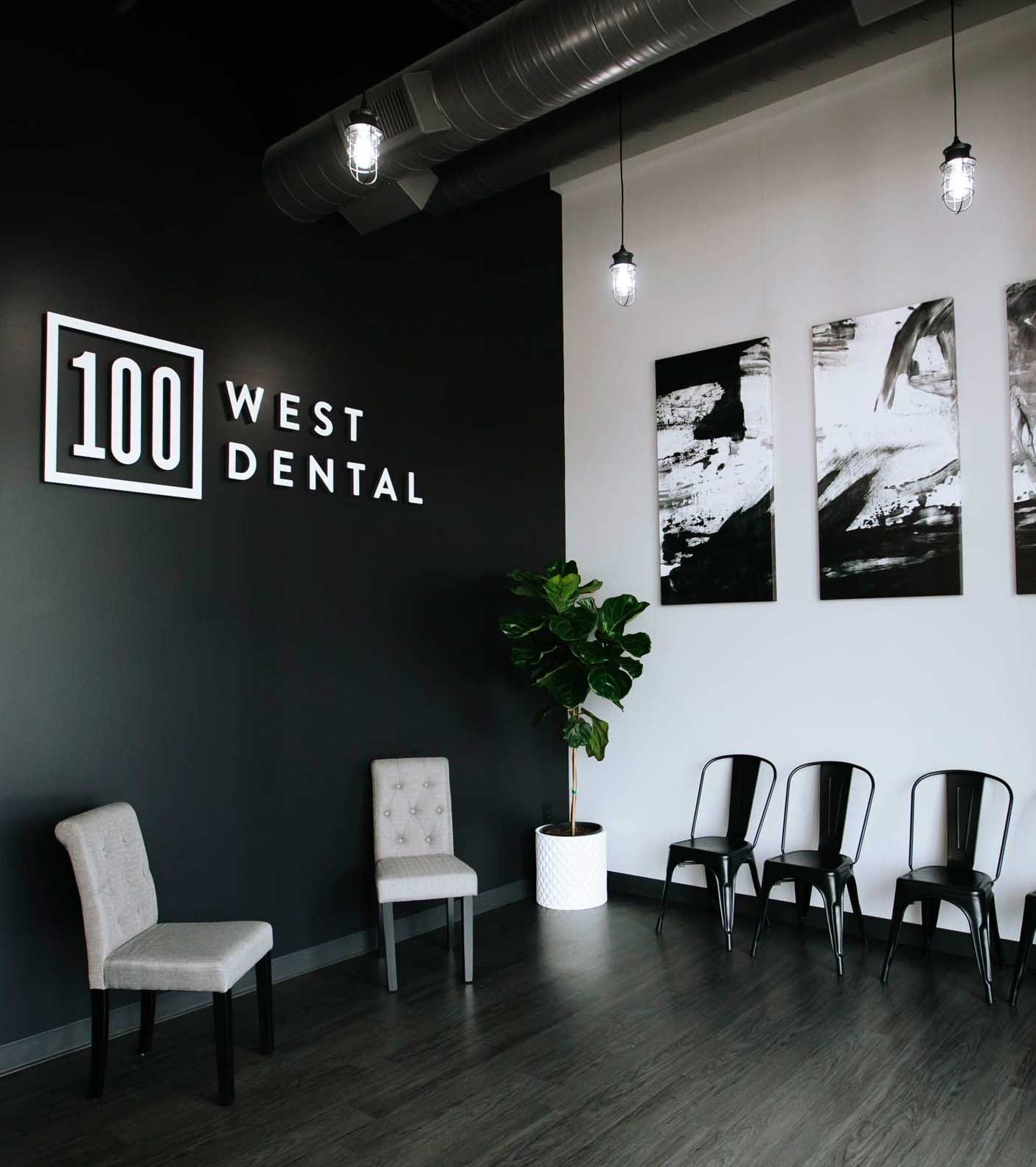 Photo of the 100 West Dental lobby