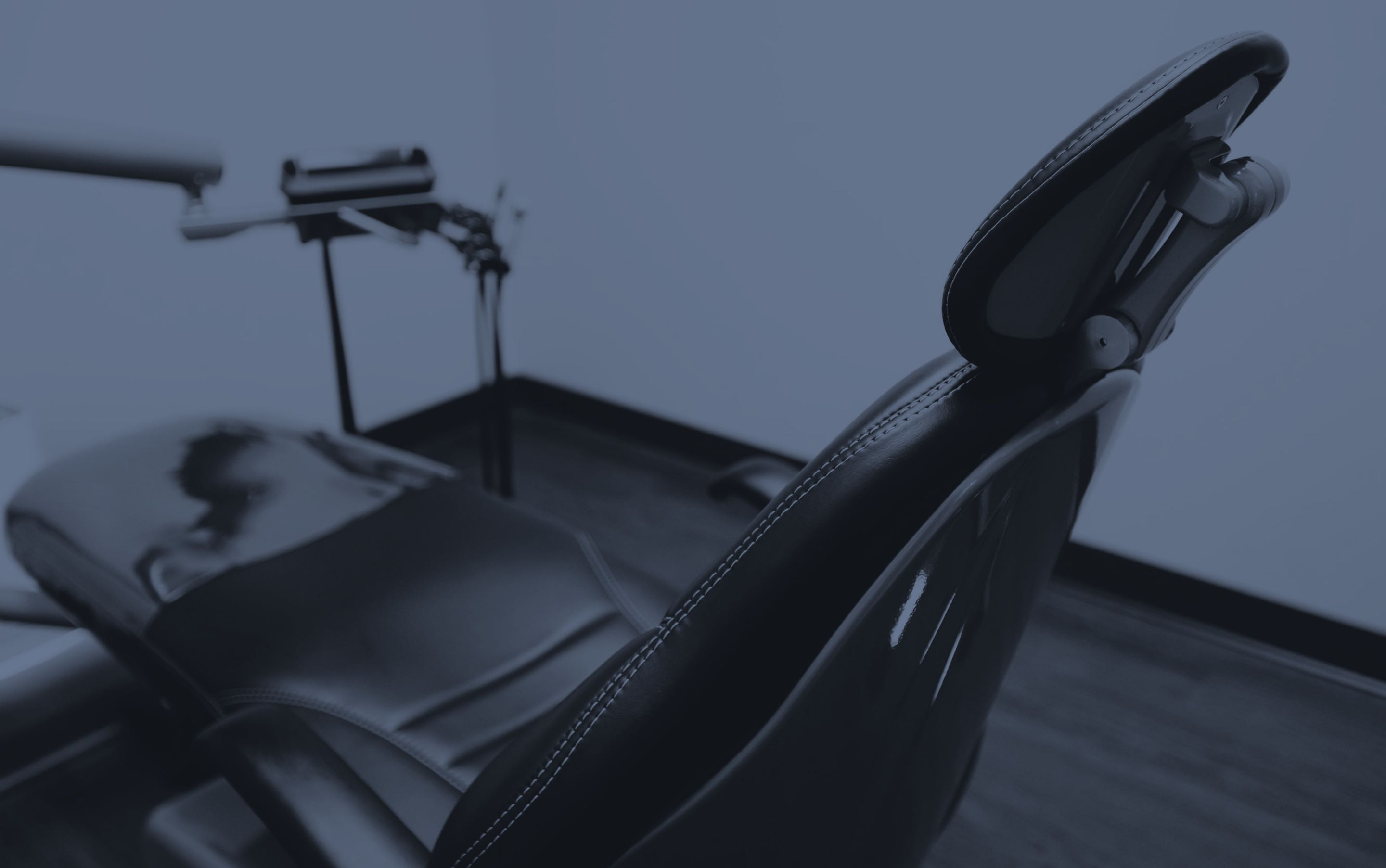 Photo of a dental chair in one of our treatment suites