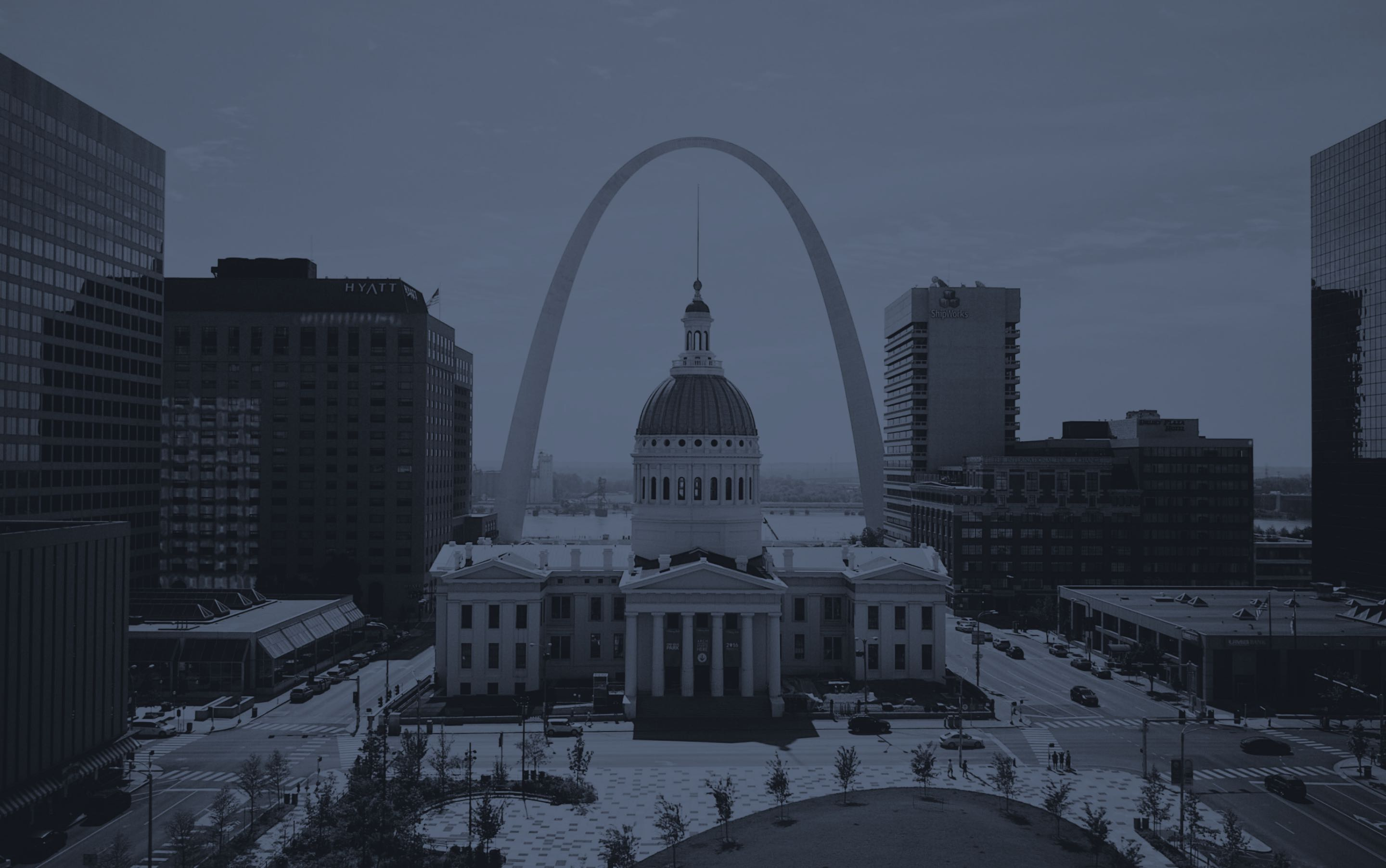 Photo of downtown St. Louis