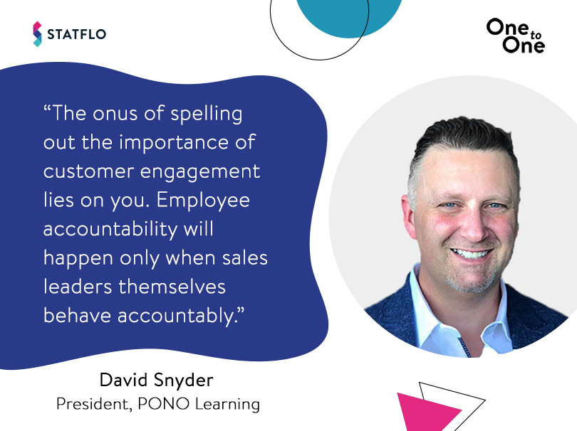 David Snyder on creating a customer engagement-focussed sales culture