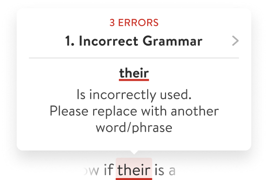 Compliance warning about improperly used word