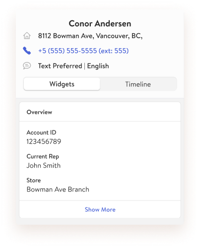 TextKit Widget: Customer information