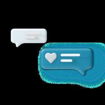 Happy conversation icon