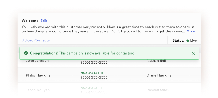 Smart List: campaign creation