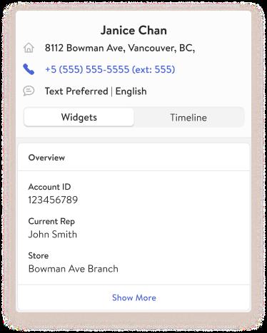 TextKit Widget: Customer Account Info