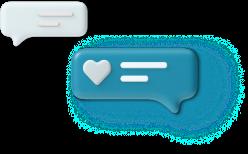 Engaged conversation icon