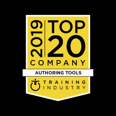 Training industry 2019 award - Authoring tools