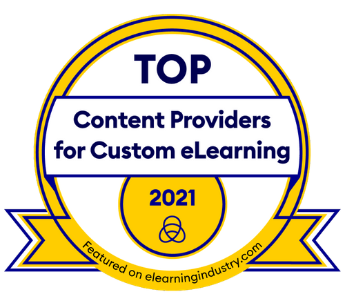 Top content providers for custom elearning award 2021