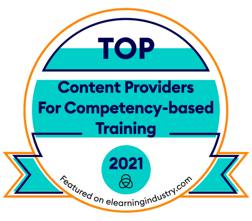 Top content providers for competency based training award 2021