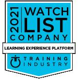Training industry 2021 watch list company