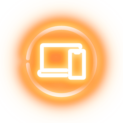 A laptop and mobile icon