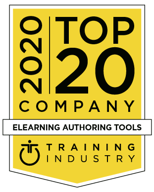 Training industry 2020 - Top 20 company - Elearning authoring tools