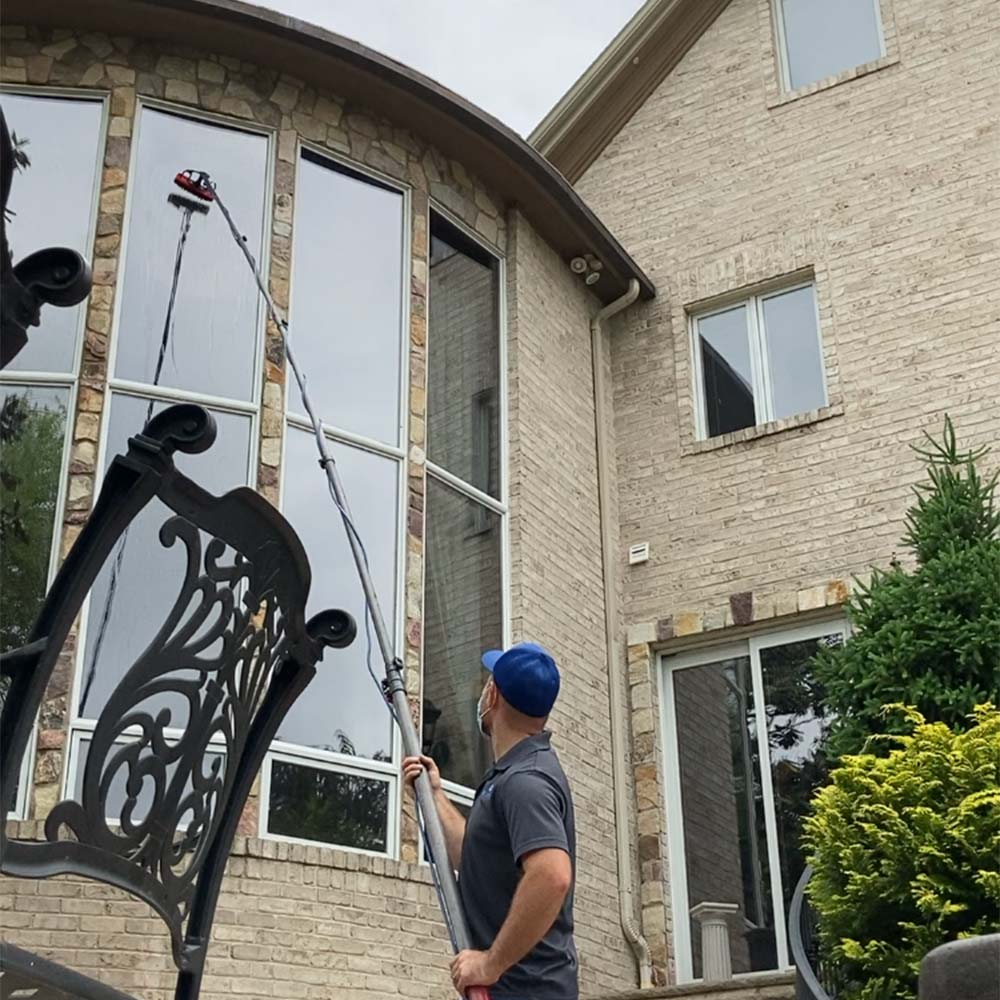 Window cleaning in McKinney, TX by BluLadder