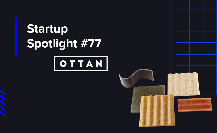 OTTAN develops, designs, and produces sustainable bio-composite materials for designers by up-cycling food and agricultural waste.