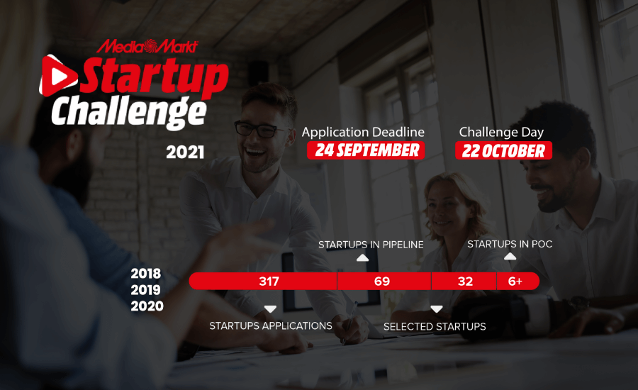 Apply to MediaMarkt Startup Challenge until September 24th and get the chance to take your place among the winning startups!