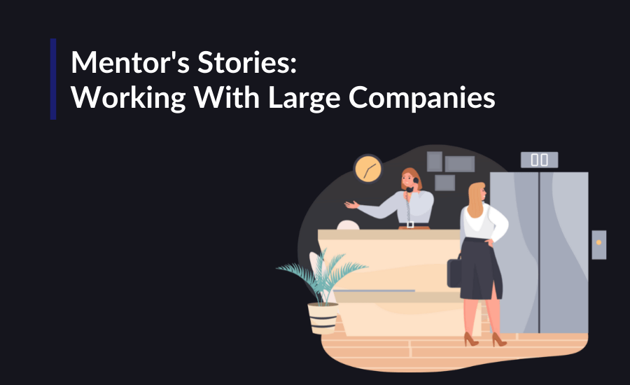 Mentor's Stories: Working With Large Companies