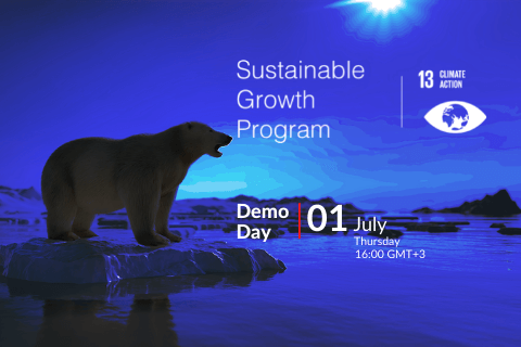 Sustainable Growth Program is a 6-month startup acceleration program for social entrepreneurs focusing on increasing Climate Action impact.