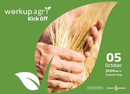 We are kicking off the WorkupAgri program in partnership with Türkiye İş Bankası on 5 October! To meet the 5 selected startups and get to know their solutions, save the date and register now!