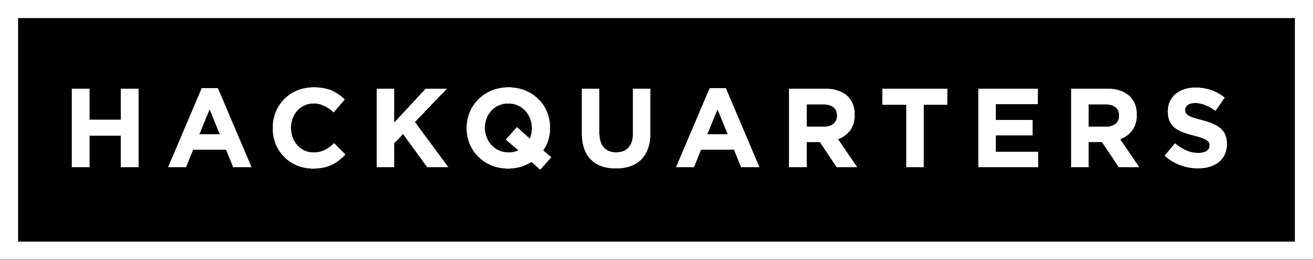 Hackquarters Logo White Transparent