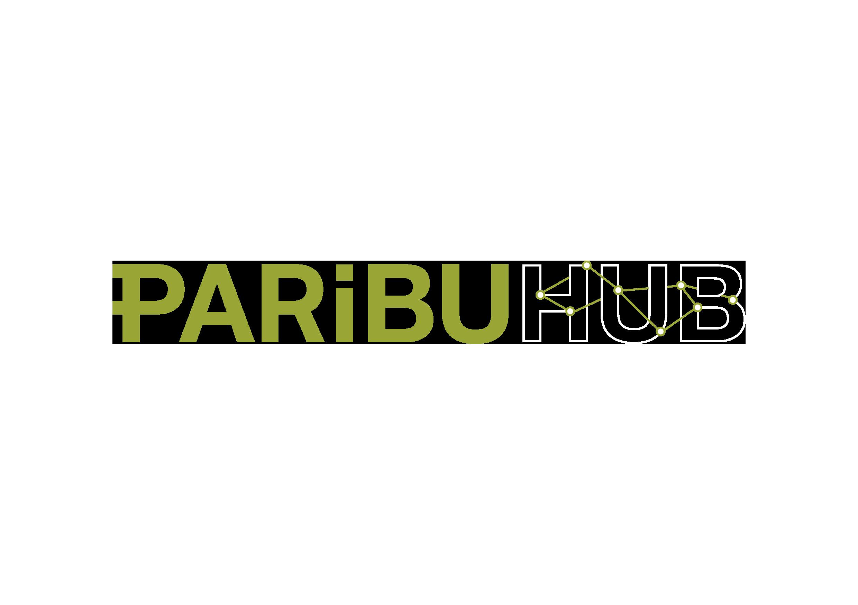 Paribu Hub Logo On Black Transparent