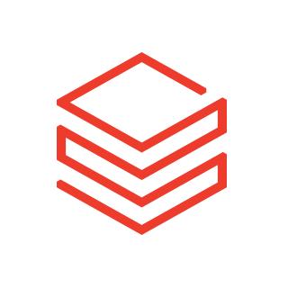 Databricks logo white and red