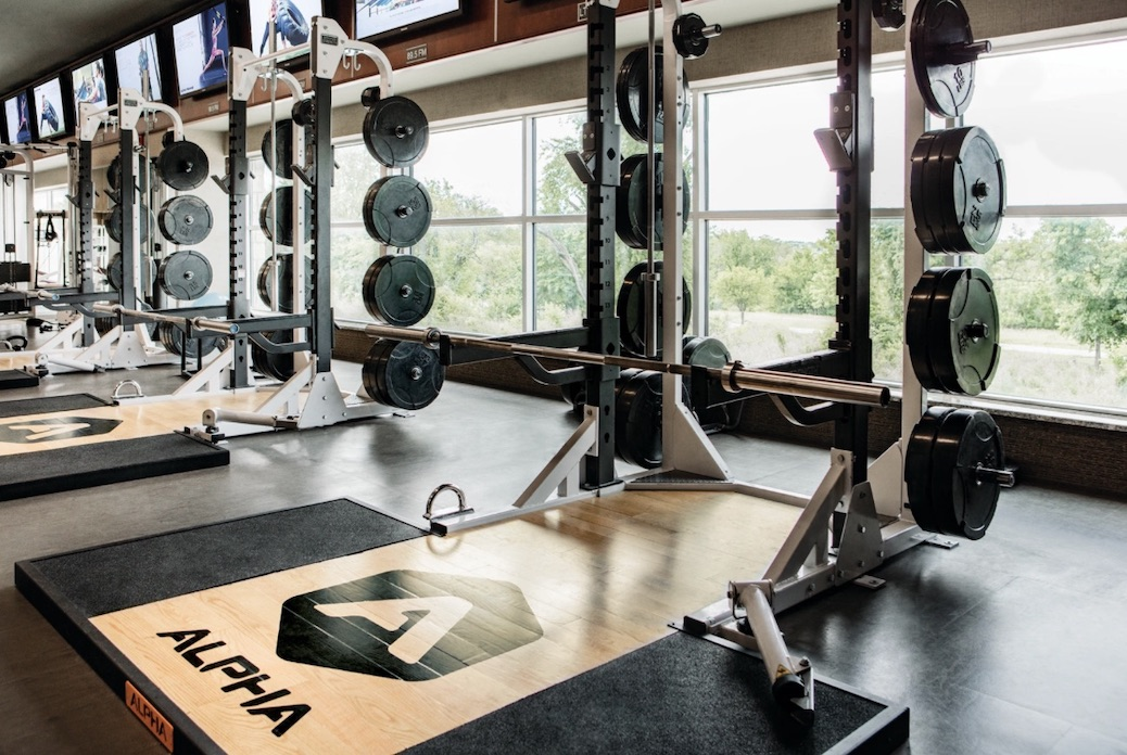 Weight rack at Life Time Living Coral Gables