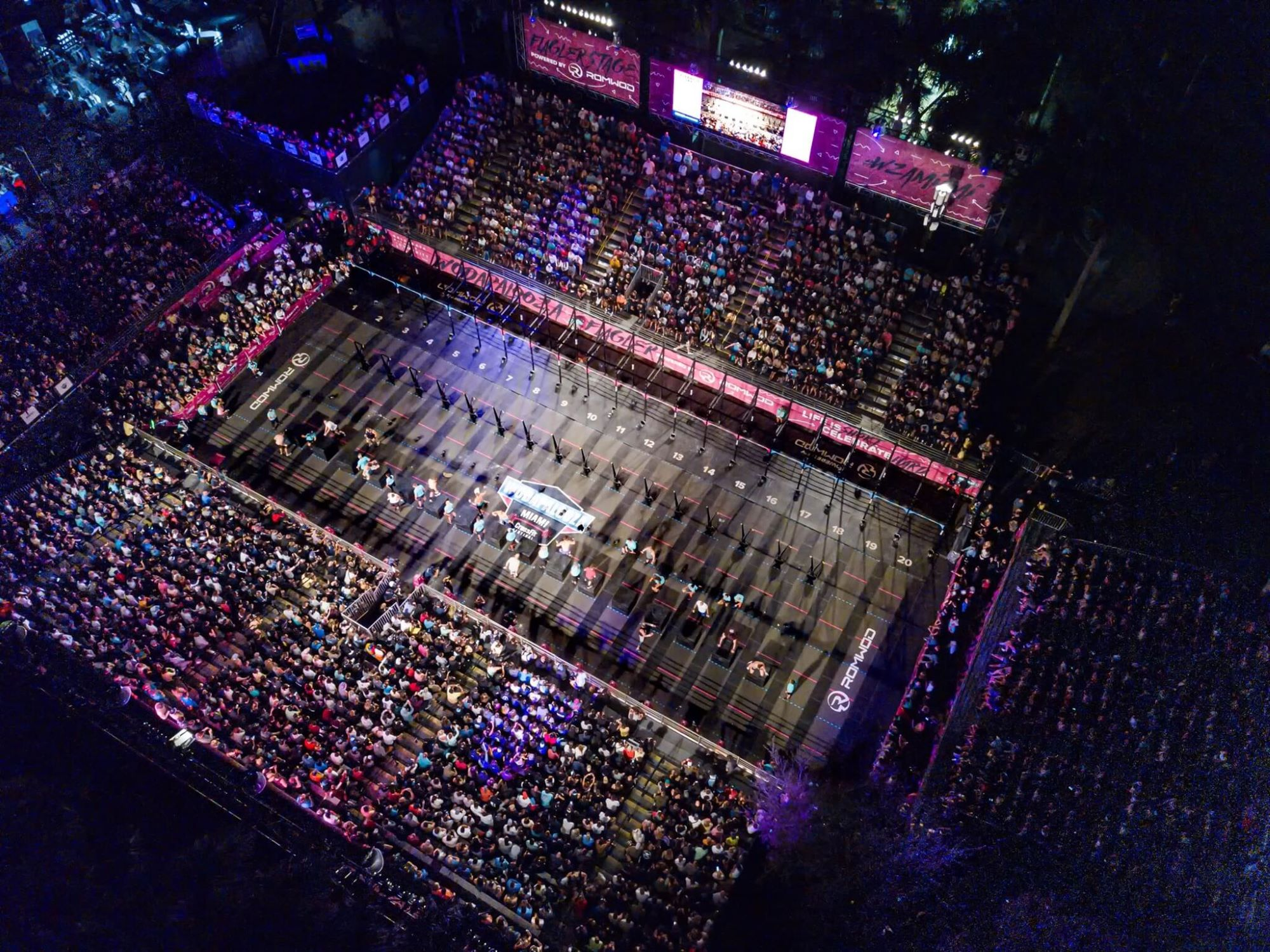 Aerial photo of WODAPALOOZA main competition area