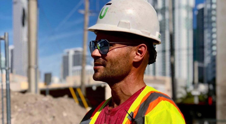 Construction Man at Underline Miami Site
