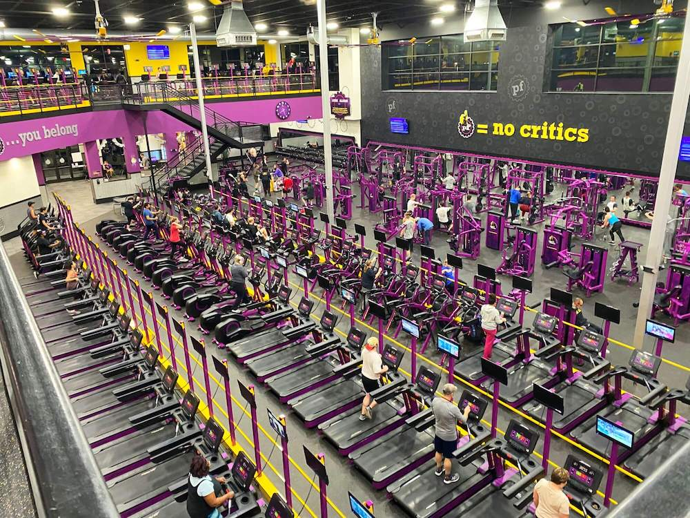 aerial photo of fitness equipment