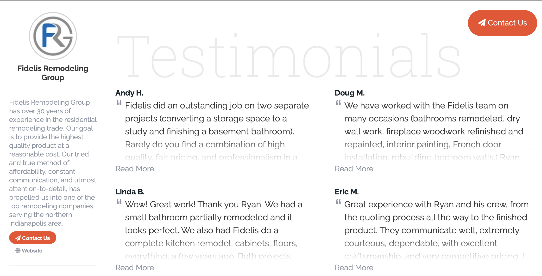 Include reviews and testimonials from happy customers