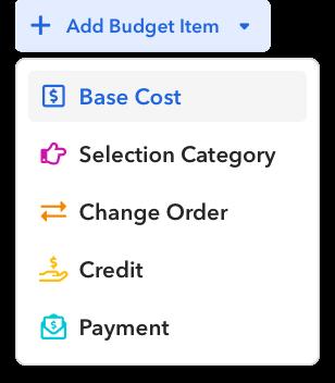 Add Budget Items
