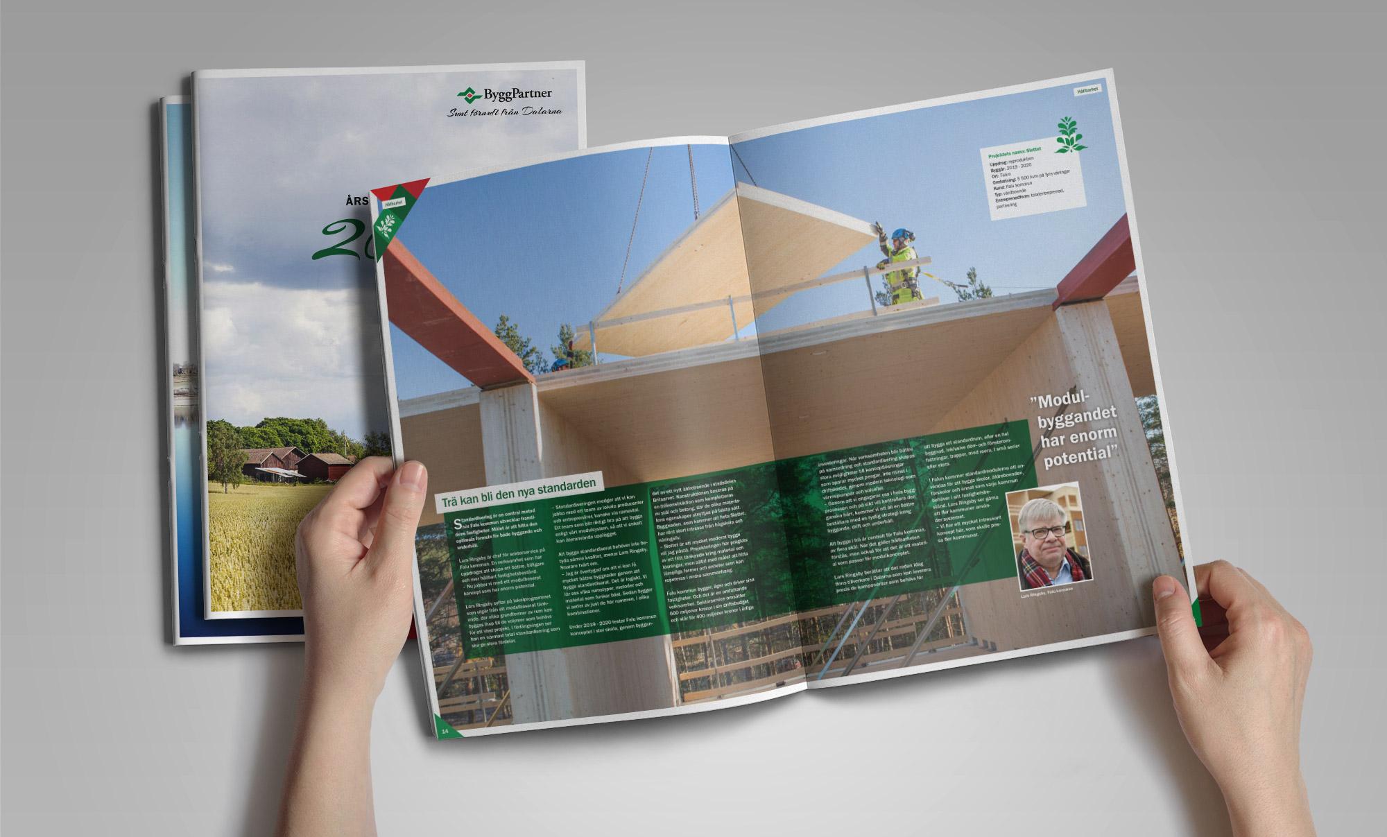 ByggPartner Årsredovisning uppslag
