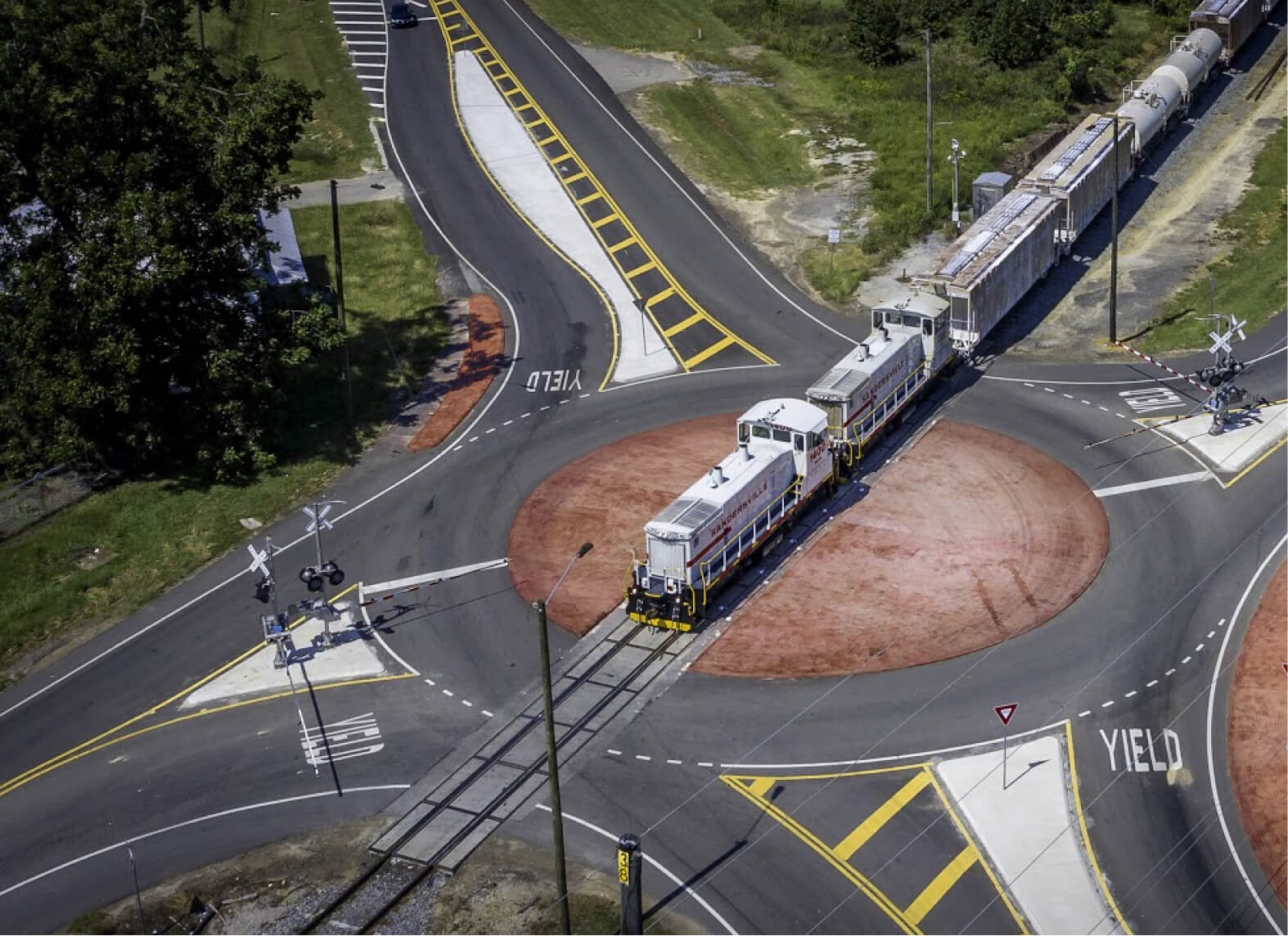 Sandersville Railroad Company railroad roundabout
