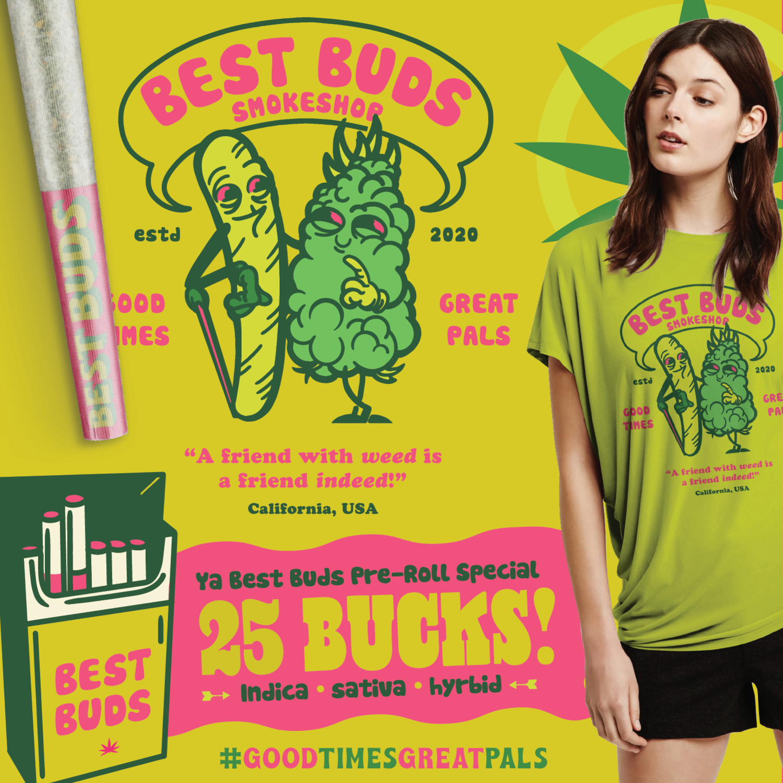 Best Buds Smokeshop Brand | Fried Design Co.