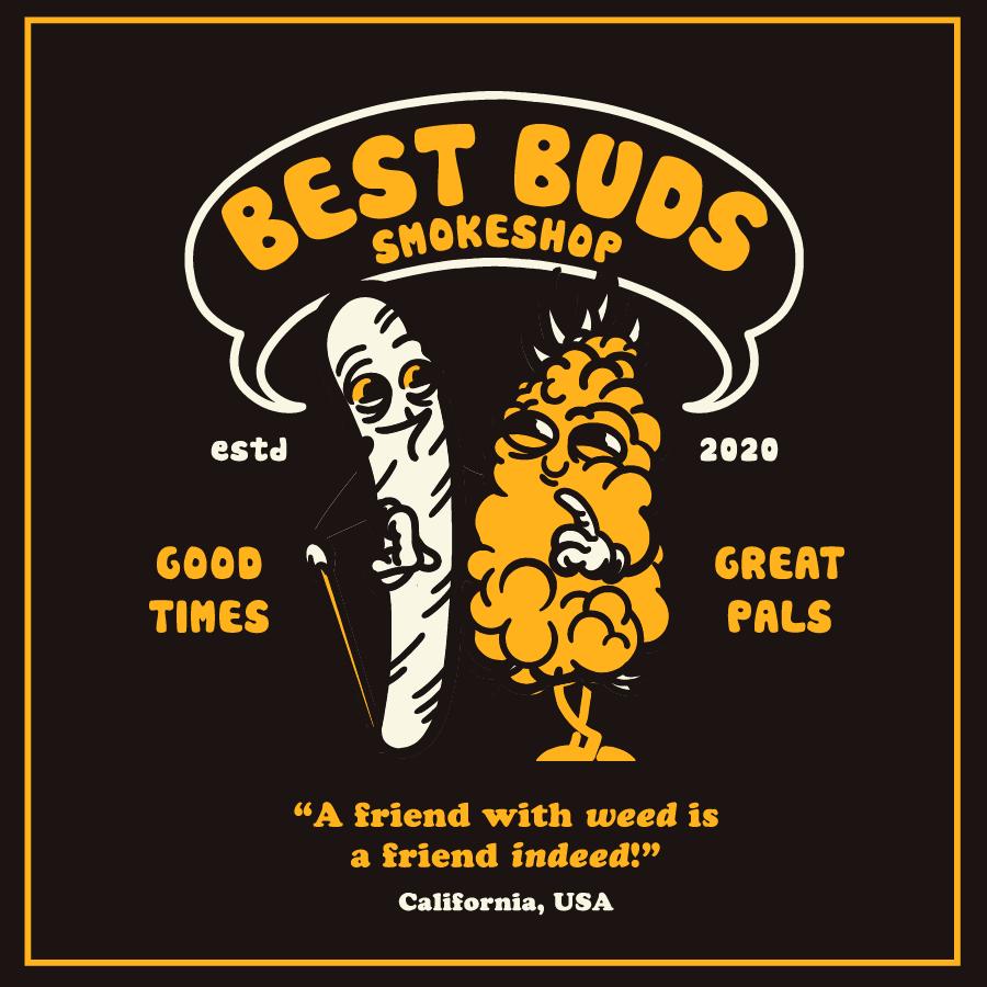 Best Buds Cannabis Dispensary Logo Design