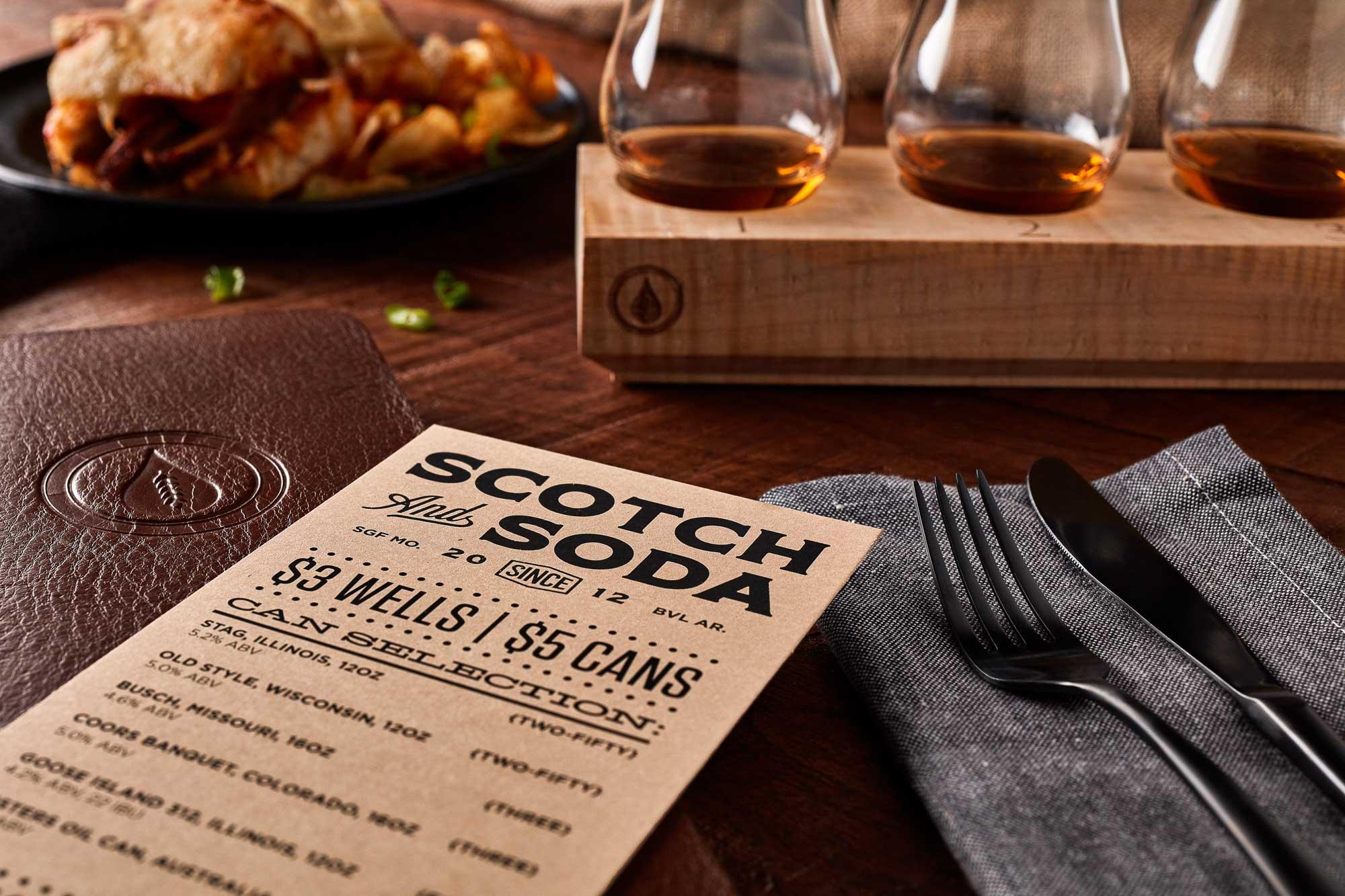 Bar Brand Design | Scotch & Soda | Fried Design Co.