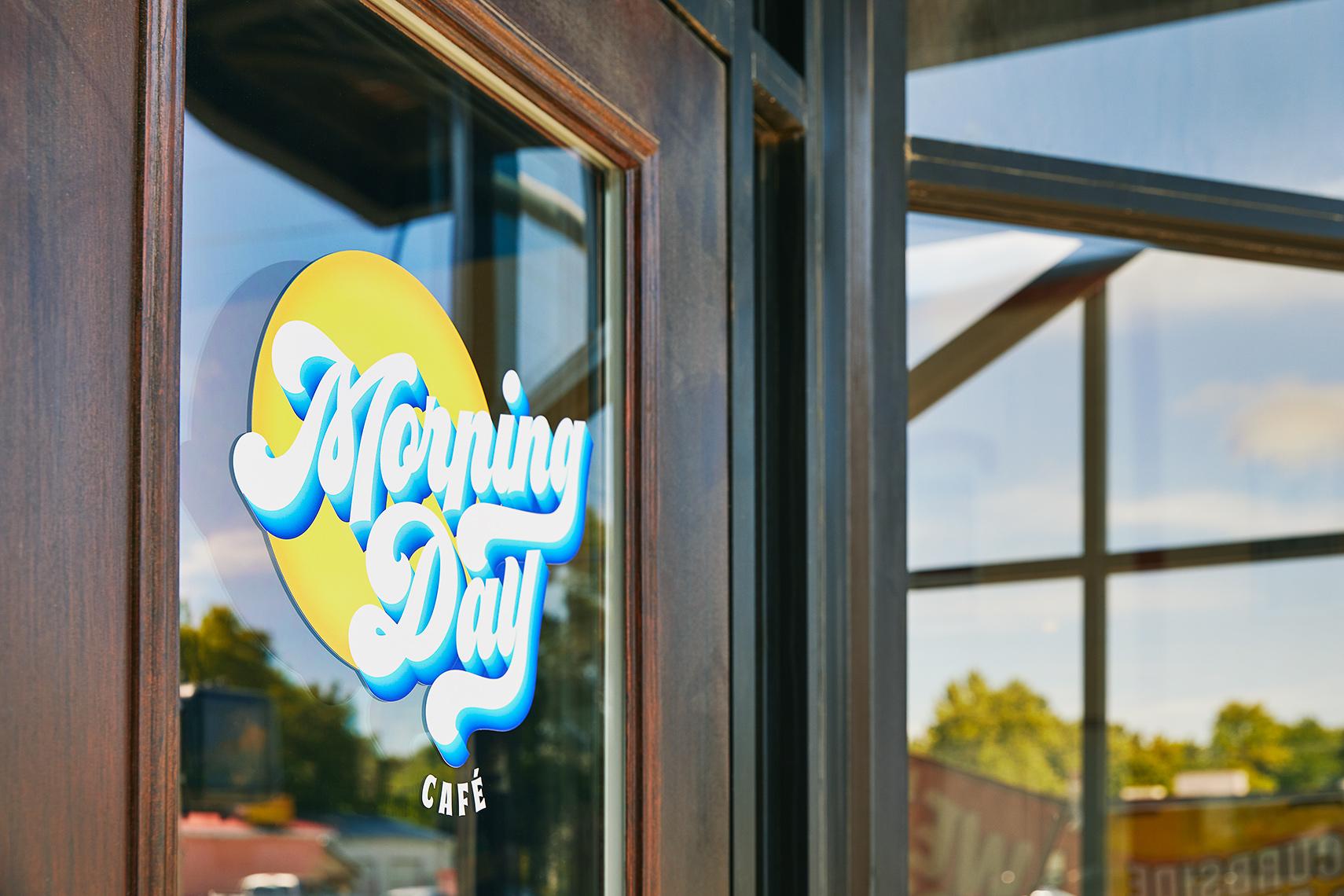 Restaurant Logo door vinyl