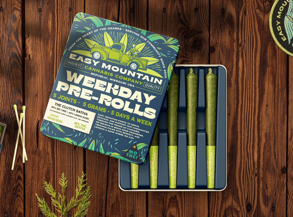 Dispensary Brand Design - Easy Mountain Cannabis Co.