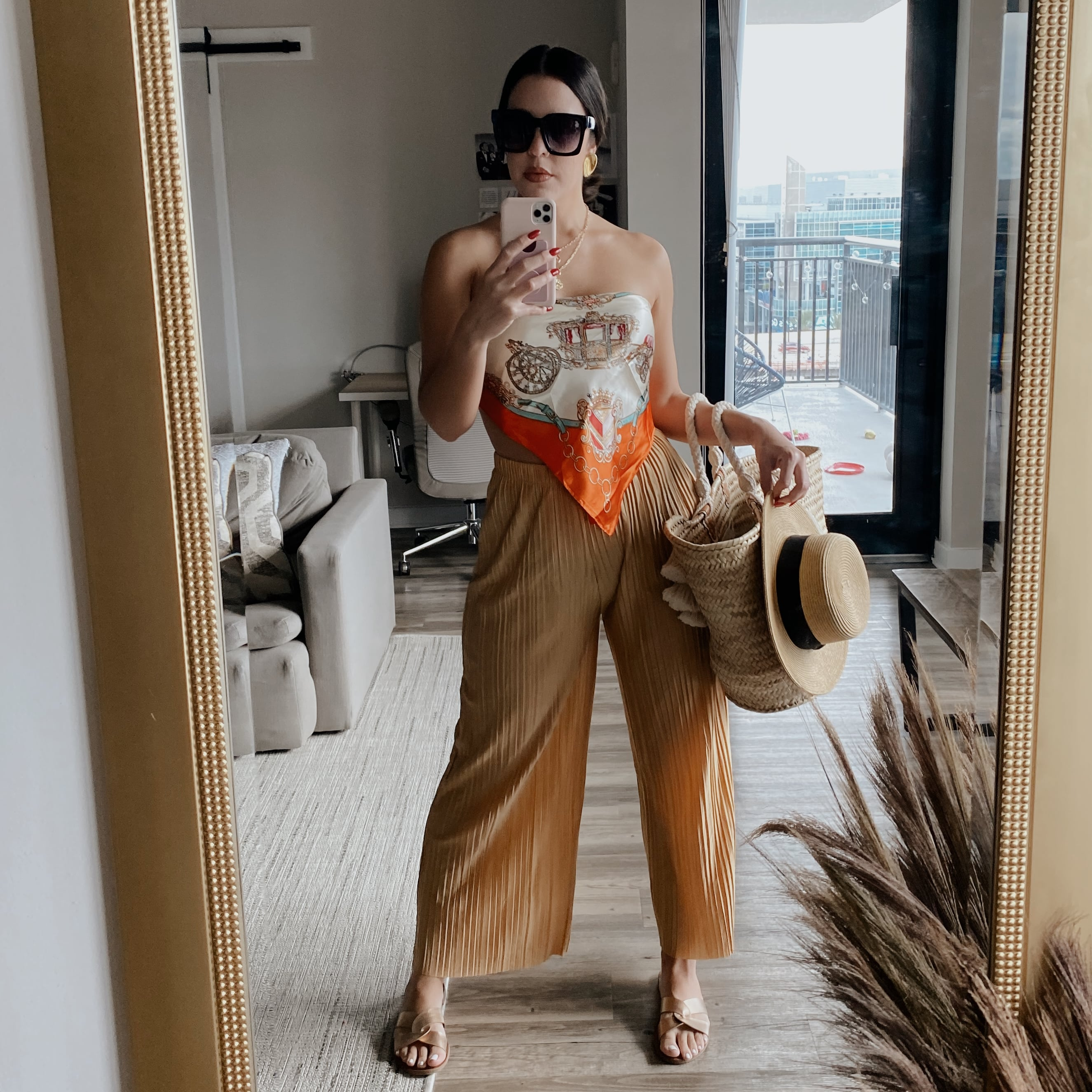 Tropical Chic Pool Day Outfit