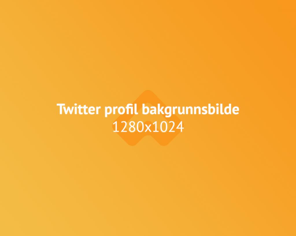 Twitter bakgrunnsbilde bildestørrelse illustrasjon