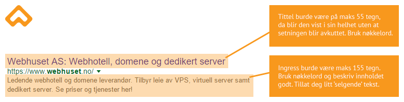 søkemotoroptimalisering webhuset metadata