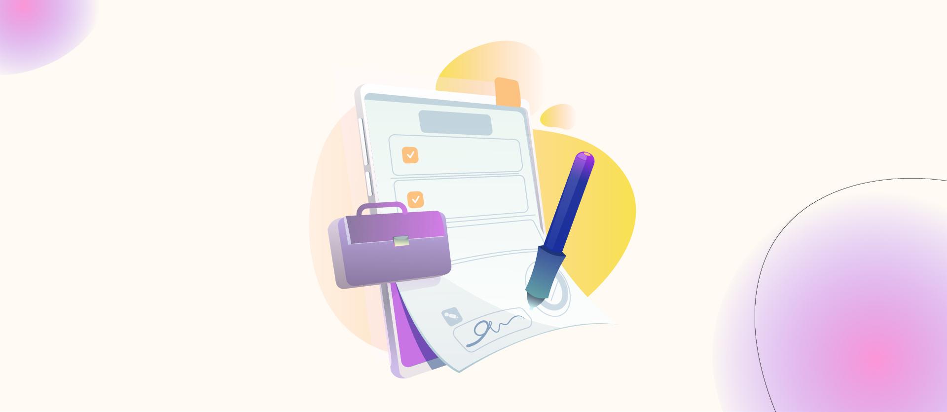 En illustration til blogindlægget om, hvad en tekstforfatter koster.