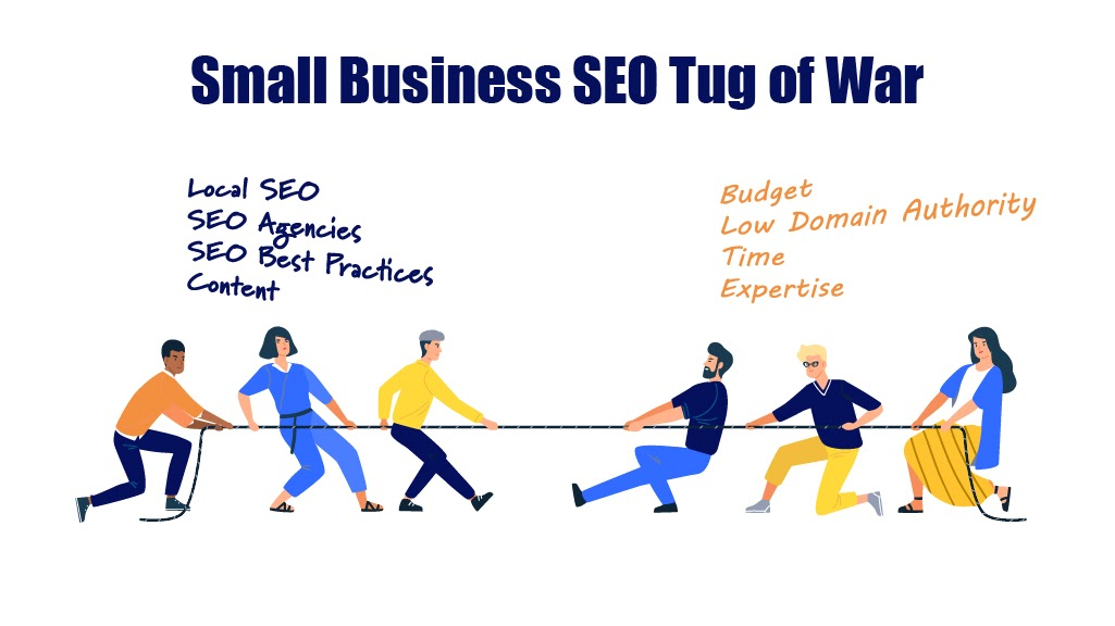 small business seo services tug-o-war
