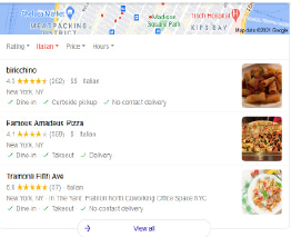 local search engine optimization (SEO) nyc 3 pack example