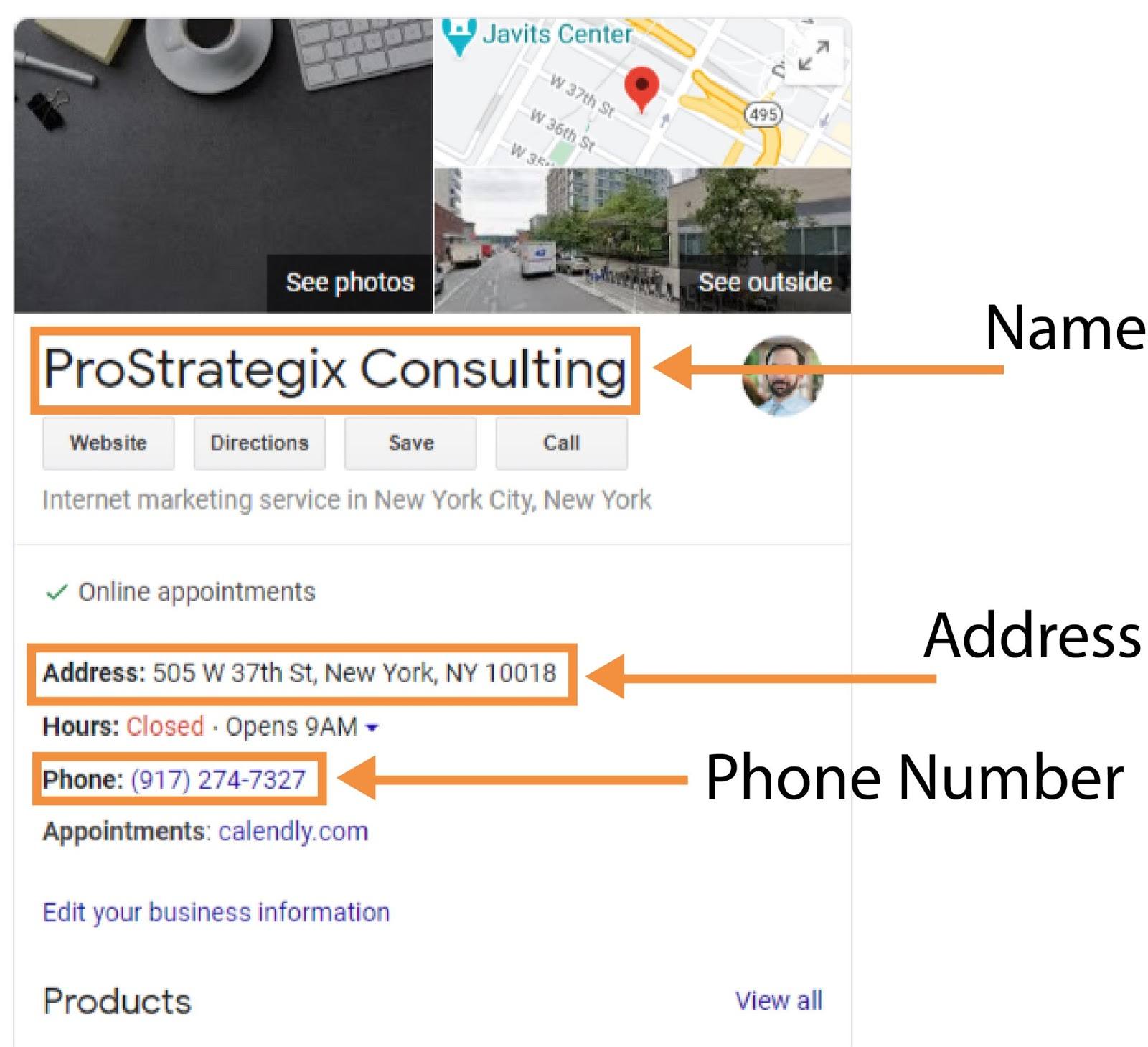 Local SEO services - GMB example