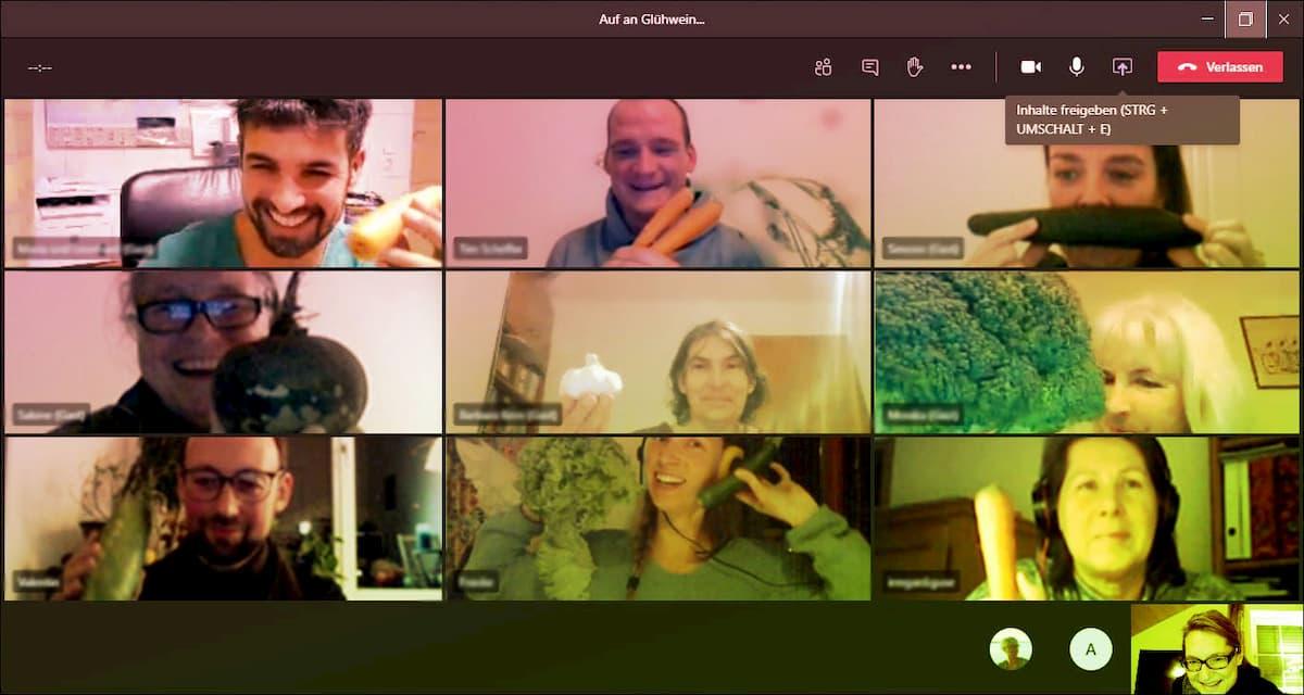 Screenshot Online Teams Meeting