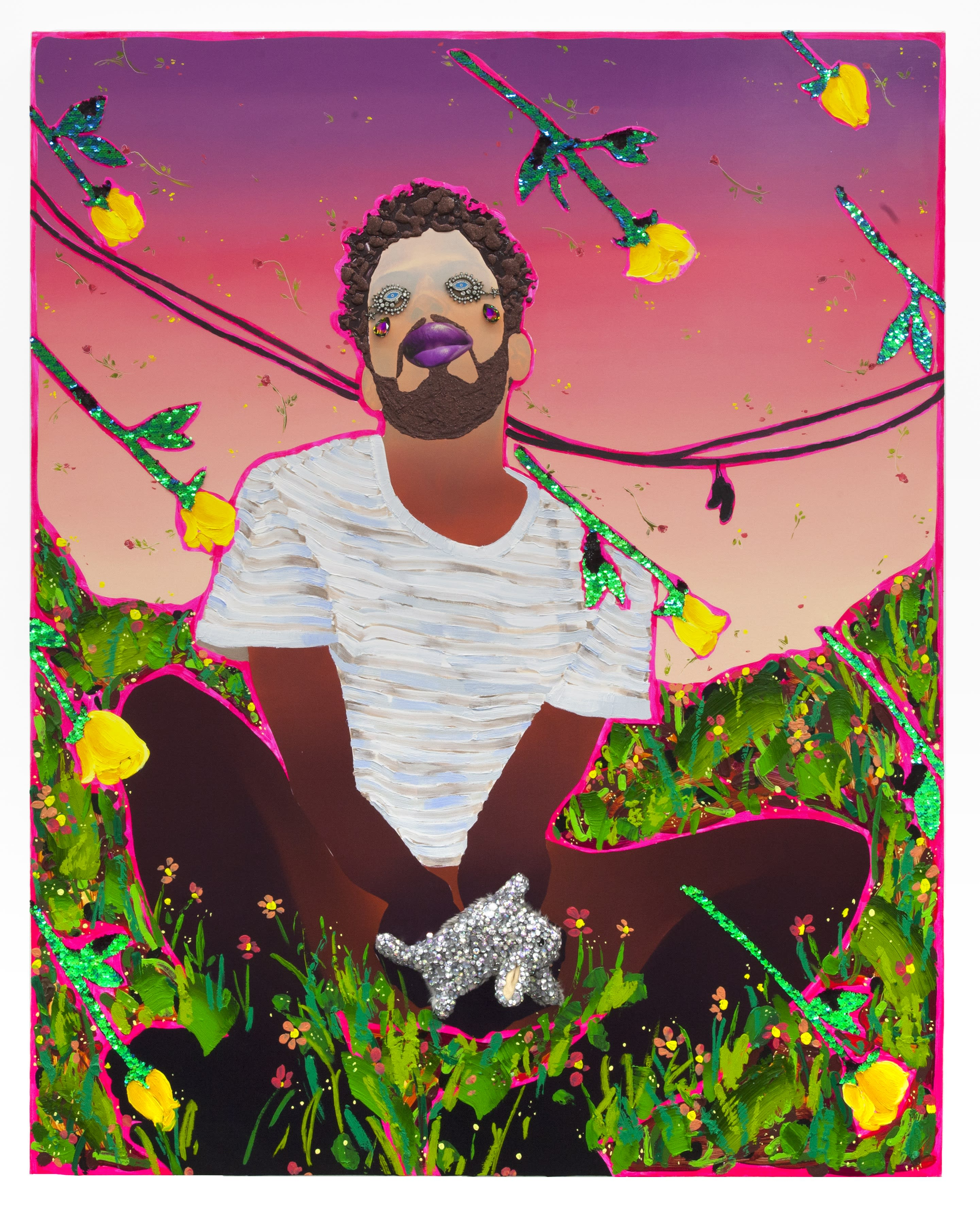 Within his works, many of which are self-portraits, he turns the Black queer body into a sensual, ethereal being, whose existence is desired by all.