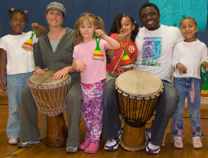 the kids of West African Cultural Arts Institute